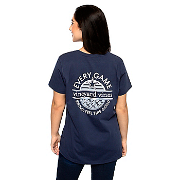 Dallas Cowboys Vineyard Vines Womens Every Game Short Sleeve T-Shirt