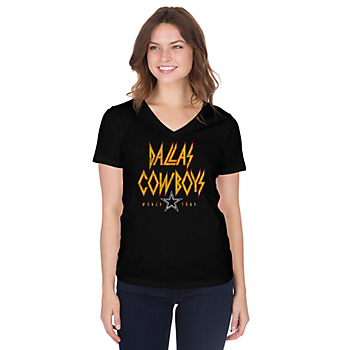Dallas Cowboys Womens Savage Short Sleeve T-Shirt