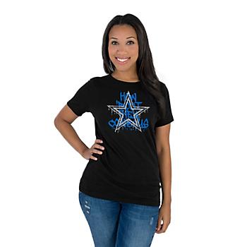 Dallas Cowboys Womens Graffiti Paint Premier Short Sleeve T-Shirt