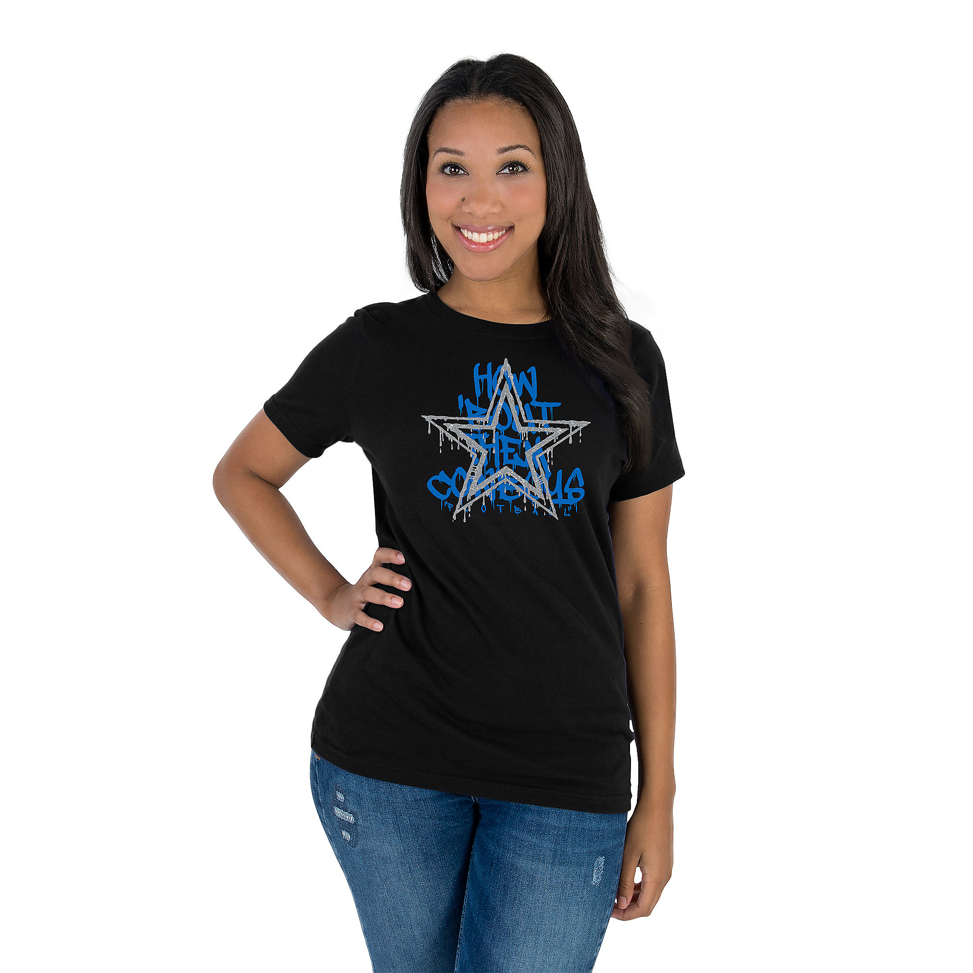 Dallas Cowboys Womens Graffiti Paint Premier Short Sleeve T-Shirt