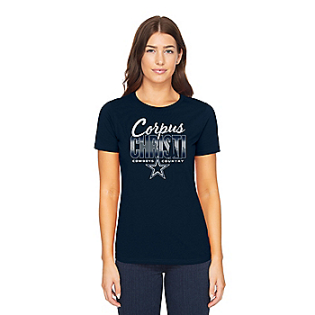 Dallas Cowboys Womens Corpus Christi Local Short Sleeve T-Shirt