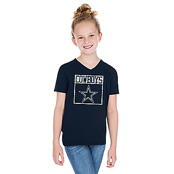 release date aad70 dc3cc Dallas Cowboys Girls Tops | Kids | Official Dallas Cowboys ...