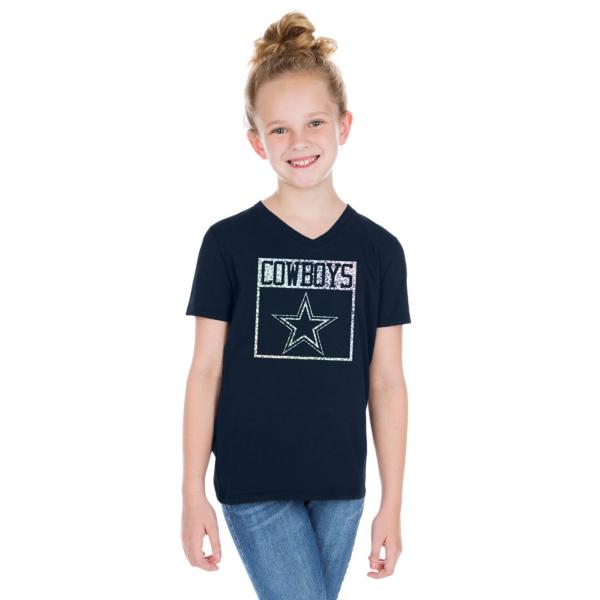 Dallas Cowboys Girls Mikayla Short Sleeve T-Shirt