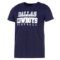 Dallas Cowboys Girls Practice Glitter Short Sleeve T-Shirt