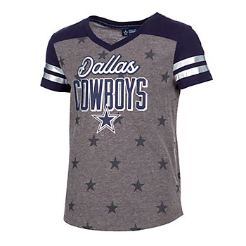 4a6afecf Dallas Cowboys Girls Tops | Kids | Official Dallas Cowboys Pro Shop