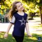 Dallas Cowboys Girls Whitney Short Sleeve T-Shirt