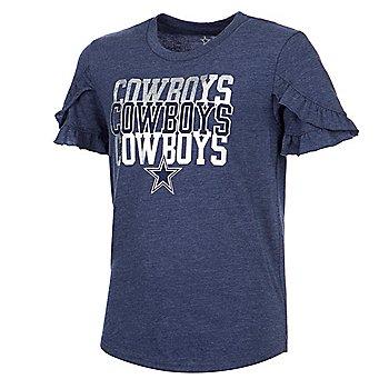 Dallas Cowboys Girls Janet Short Sleeve T-Shirt