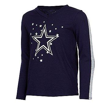Dallas Cowboys Girls Reese Long Sleeve T-Shirt