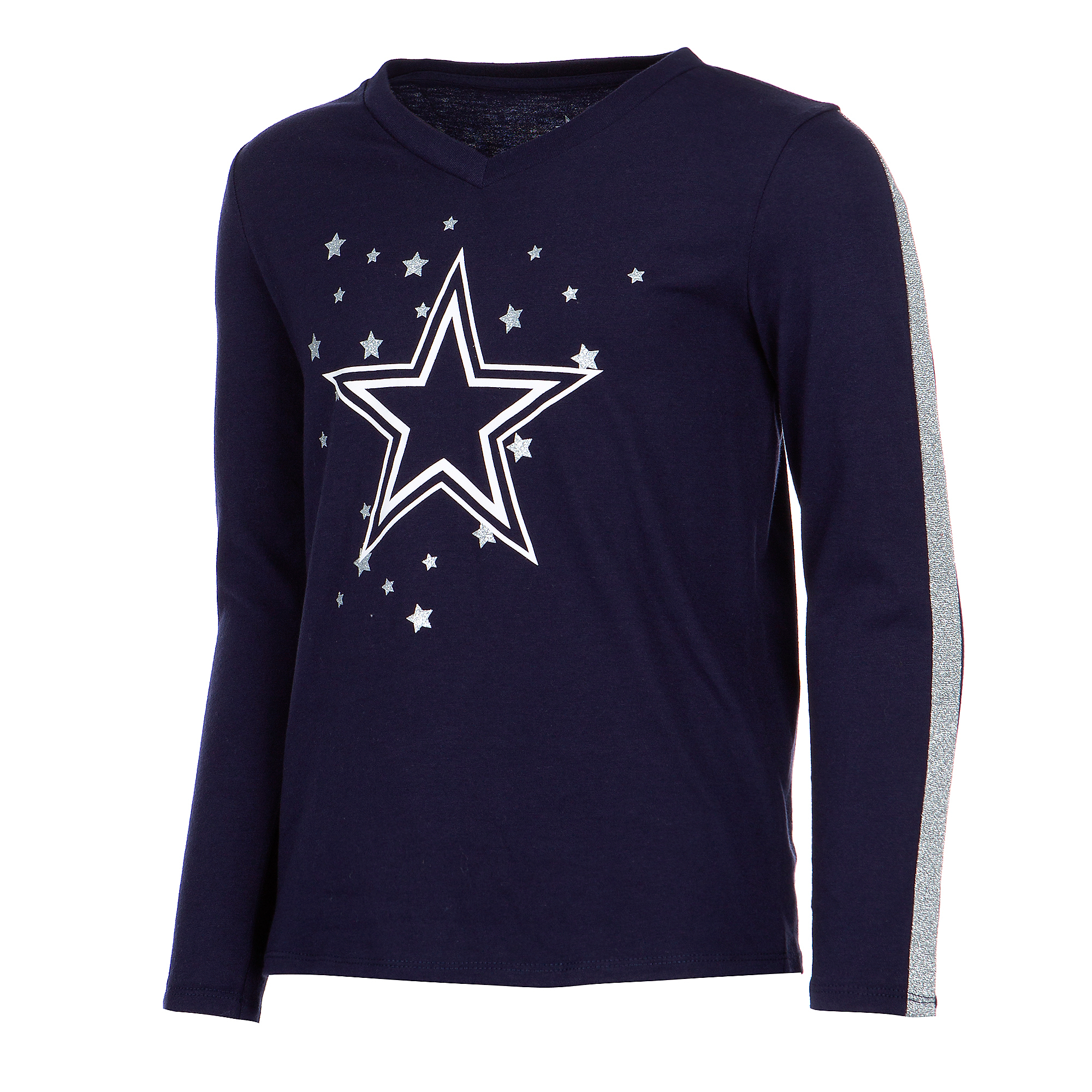 Dallas Cowboys Girls Reese Long Sleeve T-Shirt