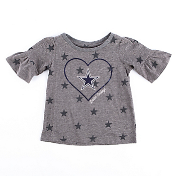 Dallas Cowboys Toddler Honey Ruffle Sleeve T-Shirt