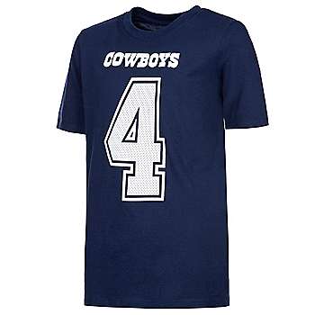 Dallas Cowboys Youth Dak Prescott #4 Nike Player Pride 3 T-Shirt