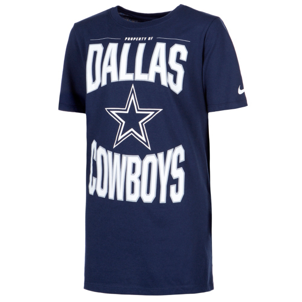 Dallas Cowboys Nike Dri-FIT Cotton Youth Property Of Short Sleeve T-Shirt