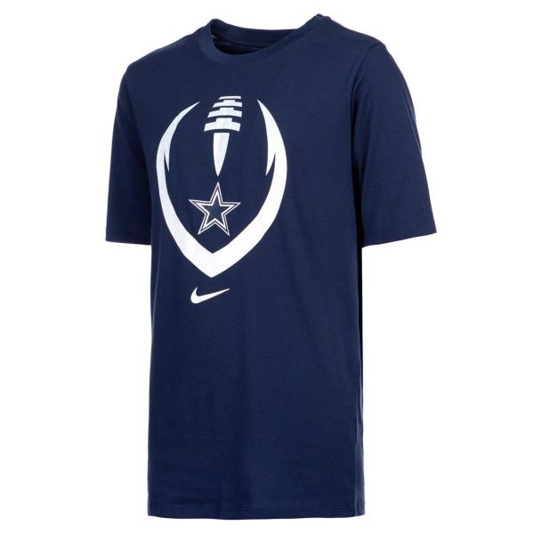 Dallas Cowboys Nike Dri-FIT Cotton Youth Modern Icon Short Sleeve T-Shirt