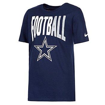 Dallas Cowboys Nike Dri-FIT Cotton Youth Football All Short Sleeve T-Shirt