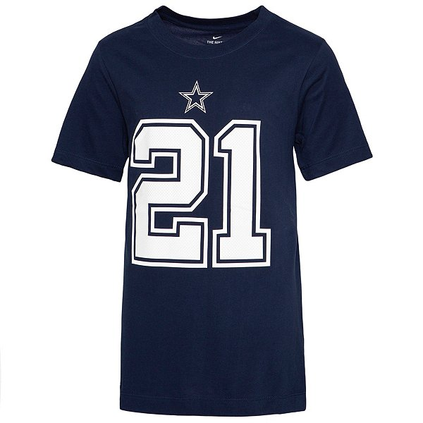Dallas Cowboys Youth Ezekiel Elliott #21 Nike Player Pride T-Shirt