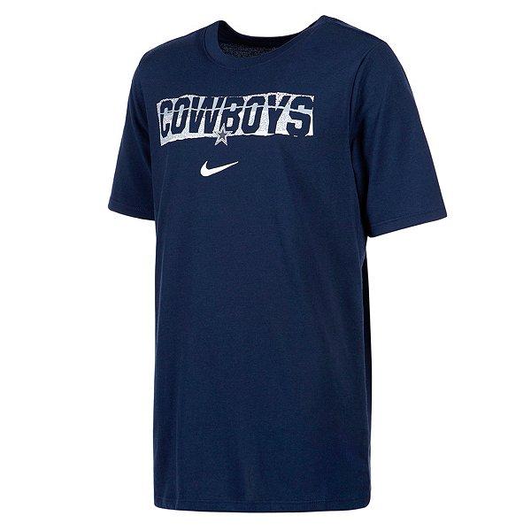 Dallas Cowboys Nike Youth Dri-FIT Cotton Mezzo Icon Short Sleeve T-Shirt