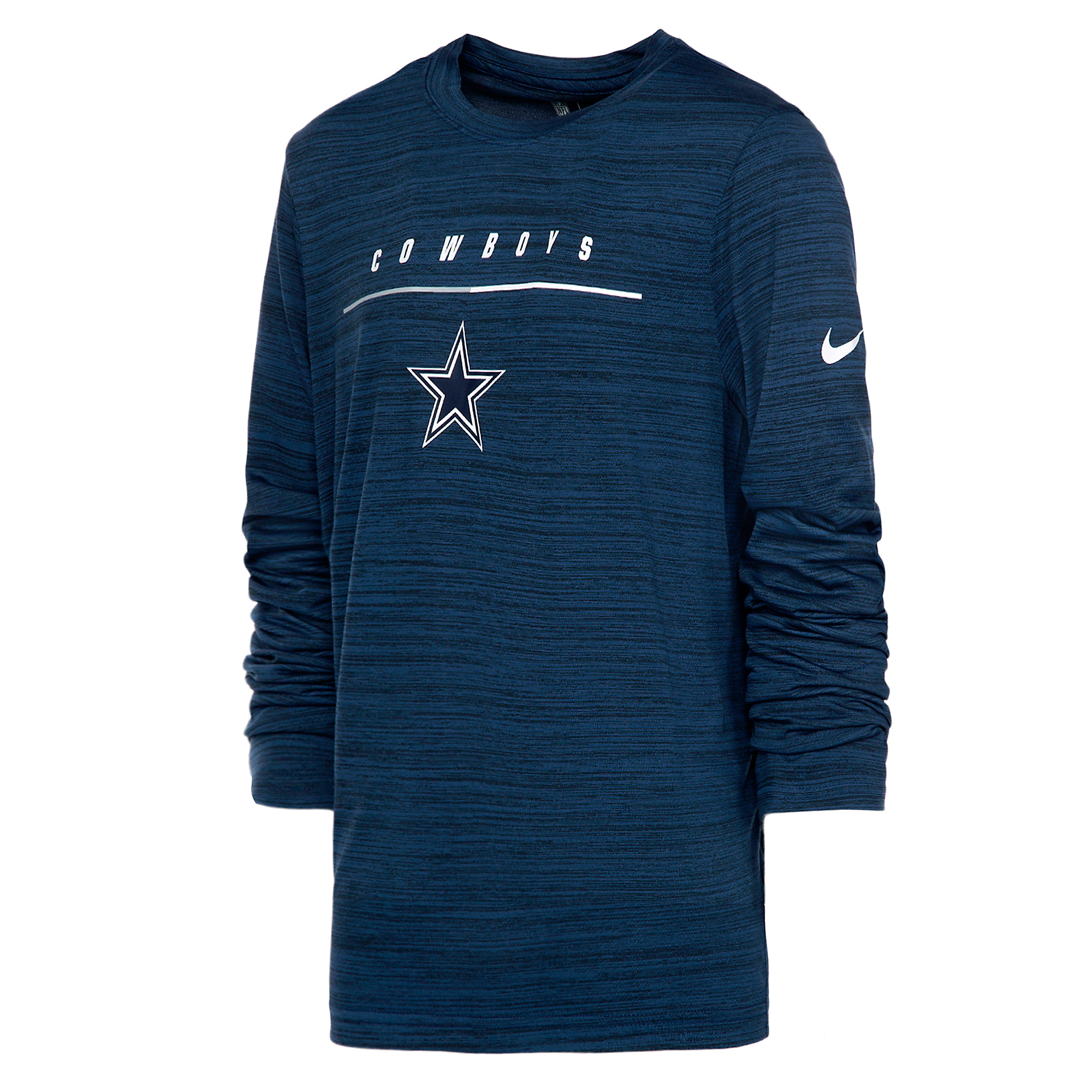 Dallas Cowboys Nike Youth Velocity Travel Long Sleeve T-Shirt