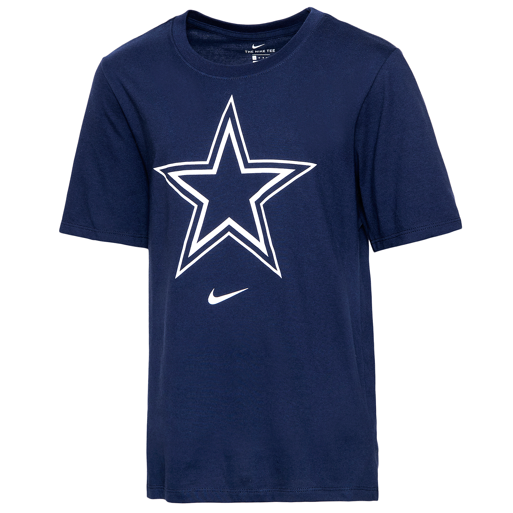 Dallas Cowboys Nike Youth Dri-FIT Cotton Essential Logo Short Sleeve T-Shirt