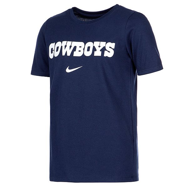 Dallas Cowboys Nike Youth Dri-FIT Cotton Essential Wordmark Short Sleeve T-Shirt