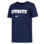 Dallas Cowboys Nike Youth Dri-FIT Cotton Essential Wordmark Short Sleeve T-Shirt