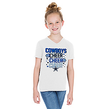 Dallas Cowboys Girls Adelyn Short Sleeve T-Shirt