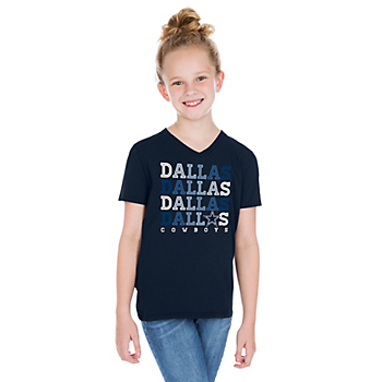 Dallas Cowboys Girls Bray Short Sleeve T-Shirt