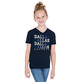 Dallas Cowboys Girls Bray Short Sleeve T-Shirt