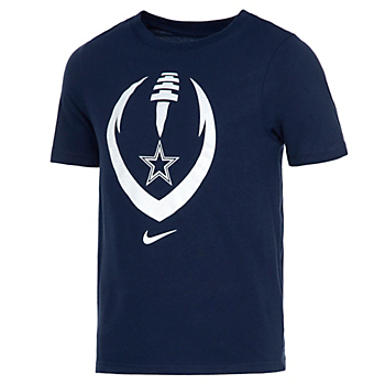 Dallas Cowboys Nike Kids Dri-FIT Cotton Modern Icon Short Sleeve T-Shirt
