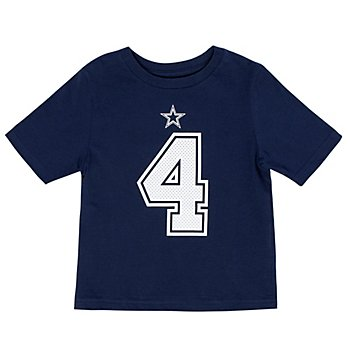 Dallas Cowboys Toddler Dak Prescott #4 Nike Player Pride T-Shirt