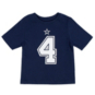 Dallas Cowboys Toddler Dak Prescott #4 Nike Player Pride T-Shirt