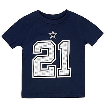Dallas Cowboys Toddler Ezekiel Elliott #21 Nike Player Pride T-Shirt