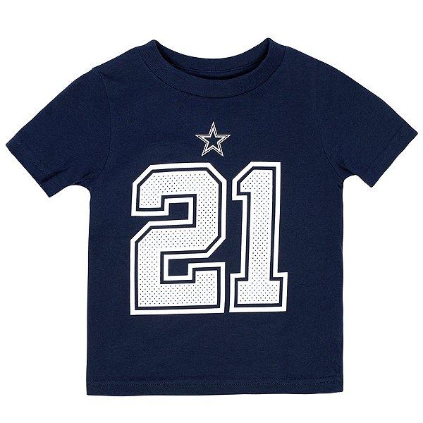 Dallas Cowboys Toddler Ezekiel Elliott #21 Nike Player Pride T-Shirt
