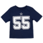 Dallas Cowboys Toddler Leighton Vander Esch #55 Nike Player Pride T-Shirt