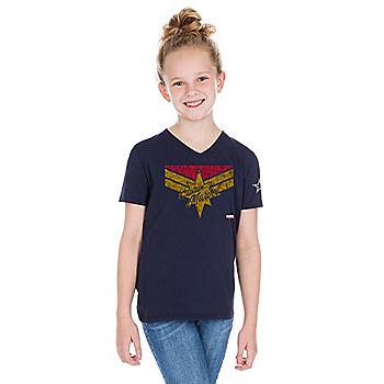 Dallas Cowboys MARVEL Girls Captain Marvel Danvers T-Shirt 6a75a58636de5