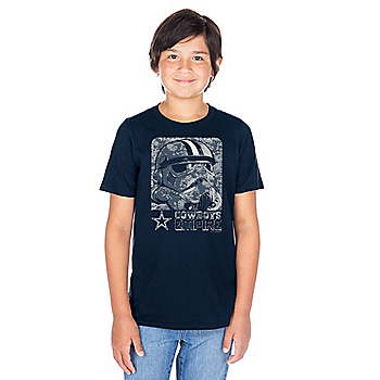 Dallas Cowboys Star Wars Youth Digi Trooper Short Sleeve T-Shirt