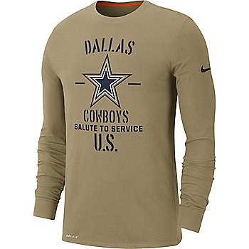 Dallas Cowboys Nike Salute to Service Youth Long Sleeve T-Shirt