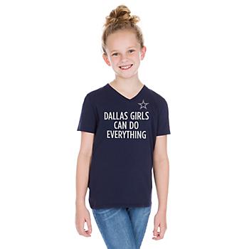 Dallas Cowboys Studio Dallas Girls Short Sleeve T-Shirt