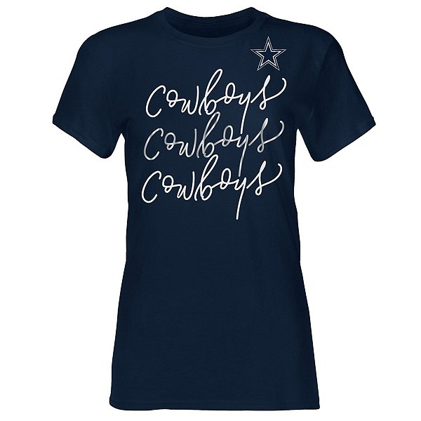 Dallas Cowboys Girls Evalin Short Sleeve T-Shirt