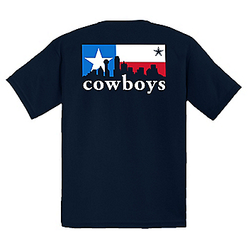 Dallas Cowboys Youth City Box Skyline Short Sleeve T-Shirt
