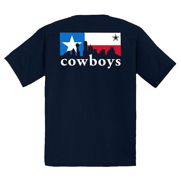 Dallas Cowboys Youth City Box Skyline Short Sleeve T-Shirt