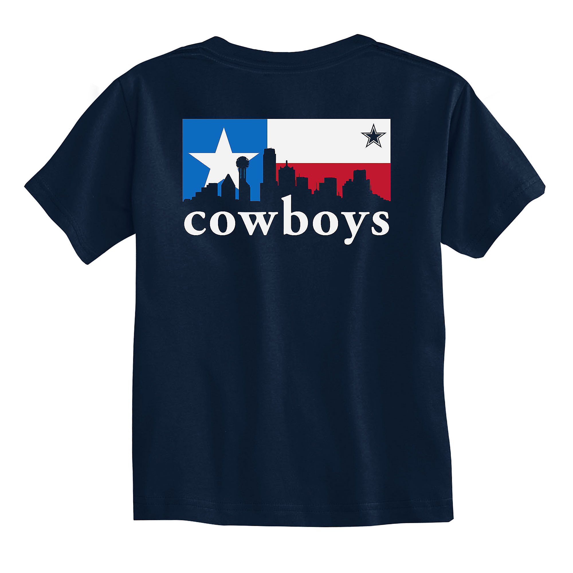 Dallas Cowboys Toddler City Box Skyline Short Sleeve T-Shirt