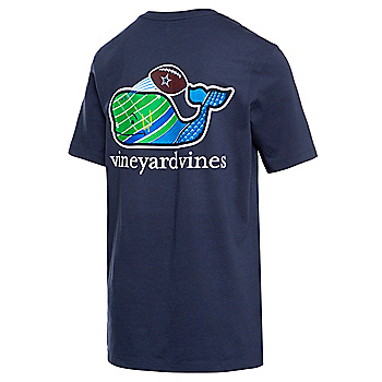 Dallas Cowboys Vineyard Vines Youth Uprights Whale Short Sleeve T-Shirt