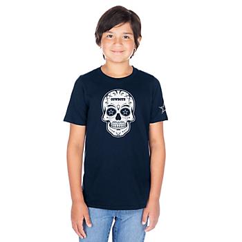 Dallas Cowboys Youth Sugar Skull Short Sleeve T-Shirt