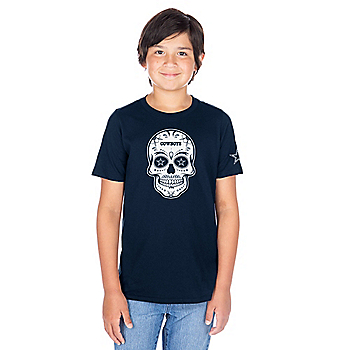 Dallas Cowboys Youth Sugar Skull Short Sleeve T-Shirt
