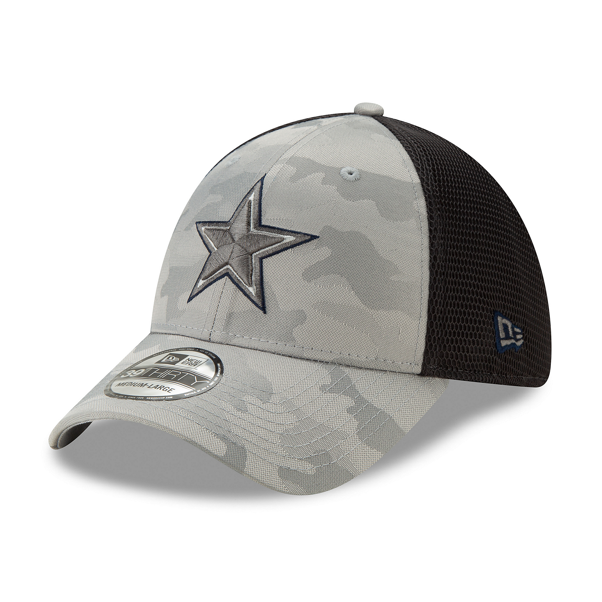 Dallas Cowboys New Era Mens Camo Front Neo 39Thirty Hat