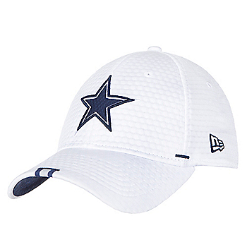 Dallas Cowboys New Era Mens White Training 39Thirty Cap