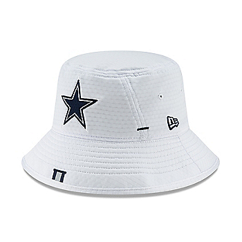 Dallas Cowboys New Era Mens White Training Bucket Hat