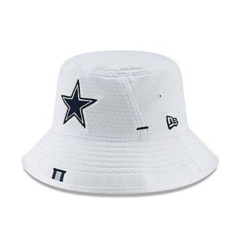 Dallas Cowboys New Era Mens White Training Bucket Hat