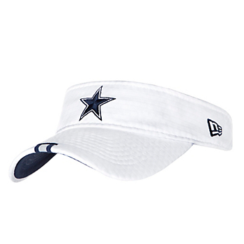 Dallas Cowboys New Era Mens White Training Visor