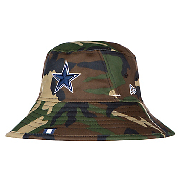 san francisco 7c653 1ffc3 Dallas Cowboys New Era Mens Woodland Camo Training Bucket Hat